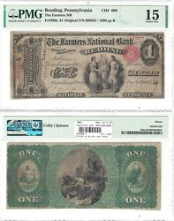 1865 1 Farmers National Bank Of Reading, Pa 696 Pmg Choice Fine-15