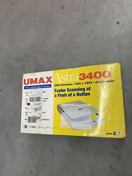 Umax Astra 3400 Flatbed Scanner Full Page Scanner 600 X 1200 Dpi Never Used