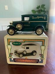 Rare Bank In Tin Die Cast Henry's Lady Model A Sold By Sears Roebuck And Co