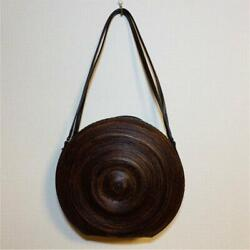 Rare Issey Miyake Bag Lacquer Leather Artist Collaboration