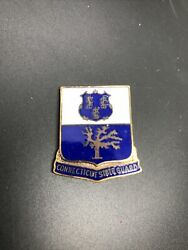 Connecticut State Guard Enamel Blue And White Pin