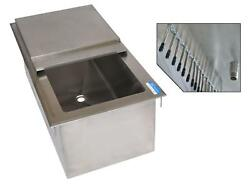 Bk Resources Dicp7-2820 28w X 20d Drop-in Ice Bin W/ 7 Circuit Cold Plate
