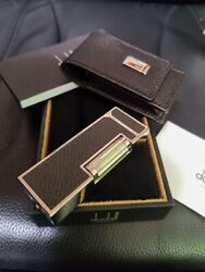 Dunhill New Gas Lighter And Dunhill Genuine Lighter Case