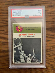 1961 Jerry West Fleer 66 Ia In Action Rc Rookie Card Nm Near Mint Psa 7