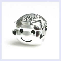 Sterling Silver Love Brother Boy Family Child Bead For European Charm Bracelet