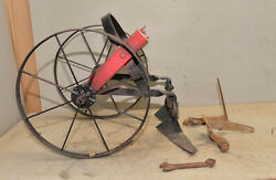 Antique Two Wheel Cultivator 2 Tine Hoe Wheel Planet Jr Wrench Collectible Tool