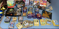 Huge Pokemon Cards + Collection Lot 3000+ Cards + Collectibles Vintage Wotc Pics