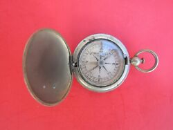Pocket Compass Keuffel And Esser Co. Pendant Silver Stainless Steel 1920-1940