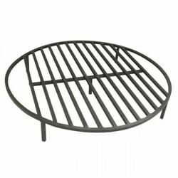 Round Fire Pit Grate 28.5 Heavy Duty Grill Cooking Campfire Camp Ring 1/2 Steel