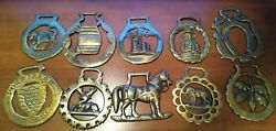 Vintage Solid Brass Horse Bridle Medallions-uk Themes-make Offer On 1 Or All 10