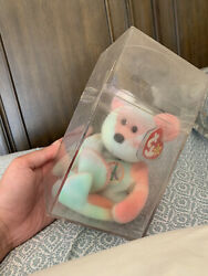 Ty Beanie Baby In Box.peace Bear. Rare In Excellent Condition