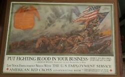 Wwi Put Fighting Blood In Your Business American Red Cross Dan Smith Poster Usmc