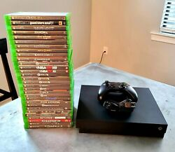 Microsoft Xbox One X Gaming Console | 30 Games | Controller