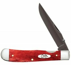 Case Xx Knife Trapperlock Smooth Old Red Bone Pvd Stainless 10895 Pocket Knives
