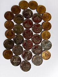Srilanka Old Coins Set 10 Rupees District Series And 5 Ruppes 2550buddhajayanthi