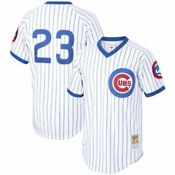 Chicago Cubs Ryne Sandberg Mitchell And Ness White Home Mlb 1987 Authentic Jersey