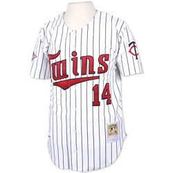 Minnesota Twins Kent Hrbek 14 Mitchell And Ness White Mlb 1991 Authentic Jersey