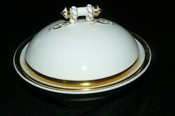 Antique Haviland And Co Handco Limoges China Round Covered Butter Dish With Strainer