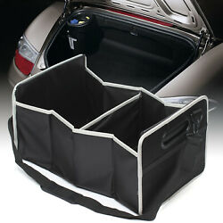 Black Embroidery Storage Box Knited Mesh Car Rear Trunk Lid Inside Glove Boxes