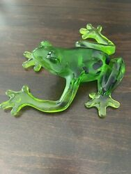 Kitty's Critters Frog, Beautiful Rare Green Resin Frog