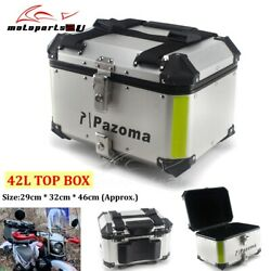 42l Motorcycle Tail Box Trunk Luggage Top Lock Storage Carrier Case Universal