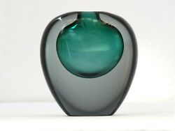 Da Ros Antonio Design For Cenedese Years And03960 Little Summerged Glass Vase Rare