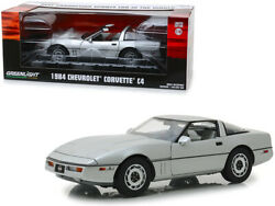 Greenlight 13534 Vintage Ad Cars 1984 Chevy Corvette C4 Convertible 1/18 Silver