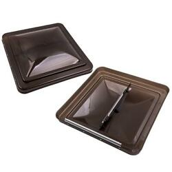 2pcs Roof Vent Cover 14x 14 Rv Vents Smoked/ Brown For Camper Trailer
