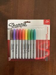 Rare Sharpie Markers 12 Count Assorted Colors Sealed Package Missing 3 Markers