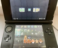 Nintendo 3ds Xl Black Handheld Video Game System Barely Used