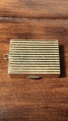 Antique Or Vintage And Co 14ct Gold Pill Box Or Snuff Case Form Of Pendant