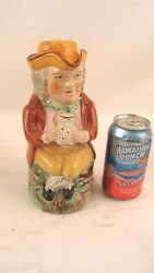 Antique Large 19c Staffordshire Pottery Toby Jug 3