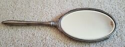 Antique Art Deco Sterling Silver Hand Mirror Webster 12.5 Inches