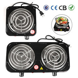 Electric Stove Single Dual Burner Portable Travel Compact Small Hot Plate Dorm