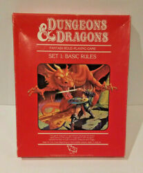 Dungeons And Dragons Set 1 Basic Rules 1011 With Dice Tsr 1st Print May 1983 Vtg
