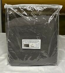 Restoration Hardware Cloud Luxe Corner Chair Slipcover Washed Linen Graph 1,095