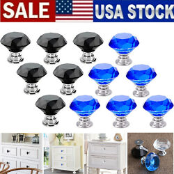 Crystal Glass Cabinet Knobs Diamond Shape Drawer Kitchen Cabinets Pulls Handles