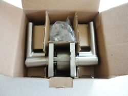 New Open Box Schlage F51a Brw 619 Col Broadway Single Cylinder Keyed Entry Lever