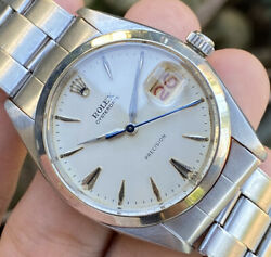 Rolex Oysterdate Precision 6694 Manual Winding Menand039s Watch Vintage
