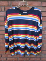 New 54.50 Tags Nwt Style And Co Litewt Soft And Silky Bold Stripe Knit Top 2x 3x 4x