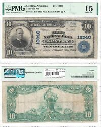 1902 10 First National Bank Of Gentry Ar 12340 Pmg Choice Fine-15