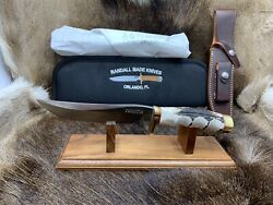 Randall Model 3-6 Knife With Stag Handles Leather Sheath Mint In Pouch A