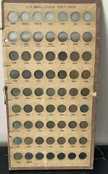1857-1909 Indian Head Penny Cent Collection Near Complete 56 Coins Out Of 58 Set