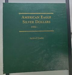 American Eagle Silver Dollars 1986- 2021 Complete Year Set 36 Us Silver Coins