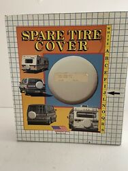 Vintage Adco White Round Vinyl Spare Tire Cover For Size J 27 Tires Sp92-9570