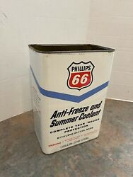 Vintage Phillips 66 Anti-freeze And Summer Coolant Empty 1 Gallon Can