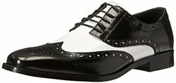 Stacy Adams Menand039s Tinsley-wingtip Oxford Black/white 9 M Us