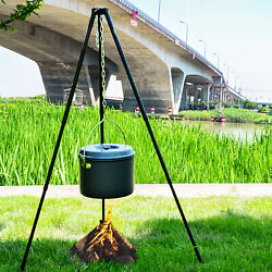 Camping Cooking Hanging Grill Stove Stand Hold Outdoor Tea Pot Hanger Tripod