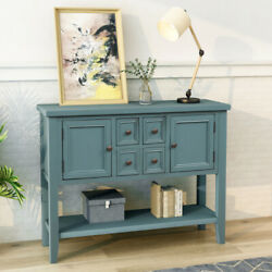 Us Buffet Sideboard Console Table With Bottom Shelf Home Furniture