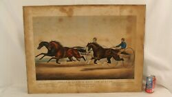 Antique Currier And Ives Ethan Allen And Mate And Dexter Lithograph
